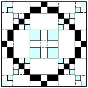 Click On The Picture To Left For Printable 5 Block Of Triple Irish Chain Quilt Pattern