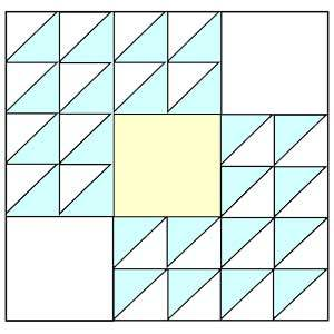 Winged Square Quilt Pattern