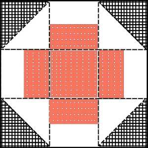 Greek CrossQuilt Block Pattern