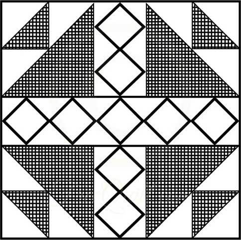 Printable Quilt Block Patterns : Bird s Nest Quilt Block Pattern - Printable Quilt Block