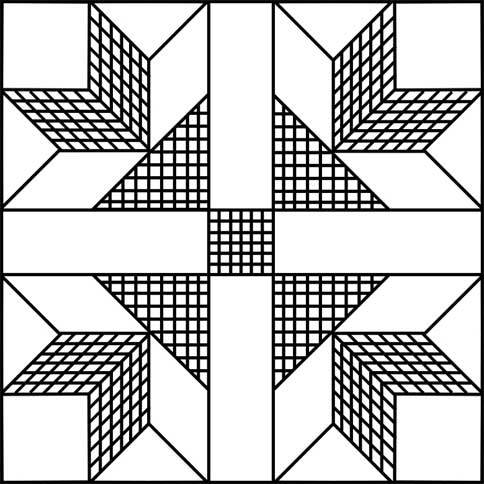 Goose Tracks Quilt Pattern - Printable Quilt Block : goose tracks quilt pattern - Adamdwight.com