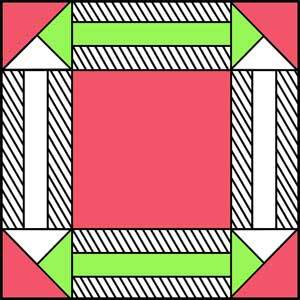 Double ArrowQuilt Block Pattern