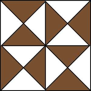 Hourglass Quilt Block Pattern