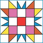 Triangle Puzzle Quilt Block Pattern