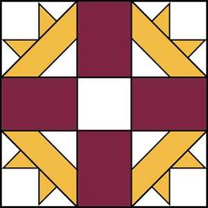 Cross and Crown Quilt Block - Traditional Quilt Pattern