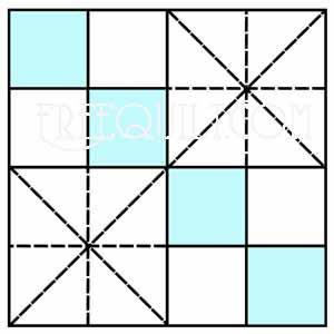 Double Four Patch Quilt Pattern Printable Quilt Block