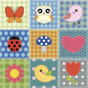 Baby Quilt Pattern - Cute Baby Shapes Applique
