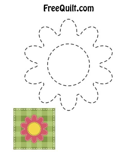 Baby Quilt Ideas - Flower Pattern to Applique for Baby Quilt