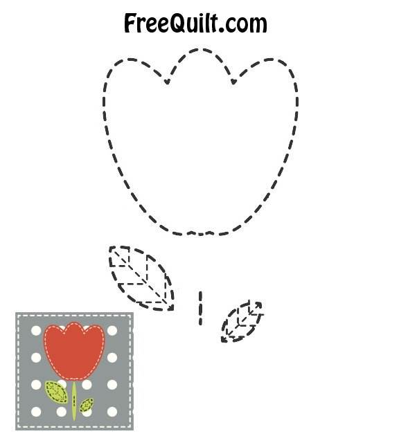Easy Baby Quilt Patterns - Tulip Applique Pattern t