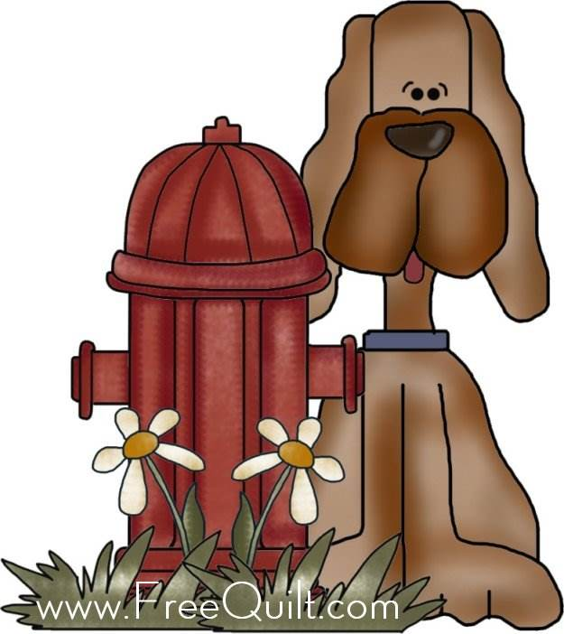 Country Dog Applique - Dog Applique Patterns to Print