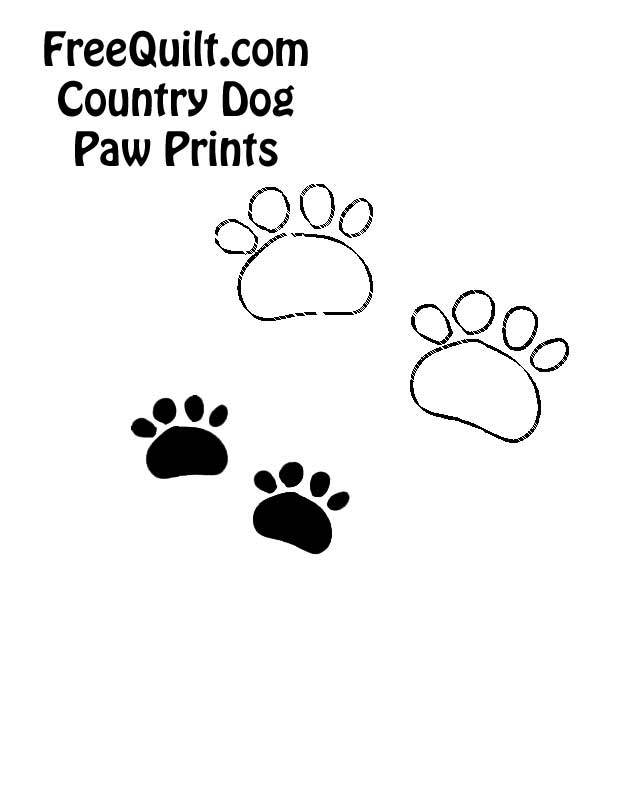 image about Printable Paw Prints identify Pet dog Paw Print Determine - Printable Canine Paw Print -