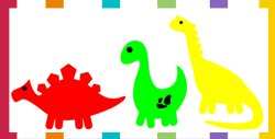 55 Dinosaur Patterns, Outlines & Silhouettes