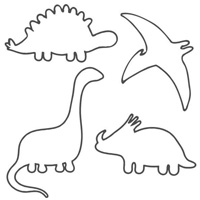 55 Dinosaur Outlines, Silhouettes & Patterns
