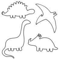 4 dinosaurs patterns lineart
