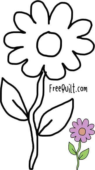 Flower Outline - Printable Pattern for Fall Quilt