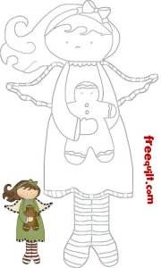 gingerbread angel print