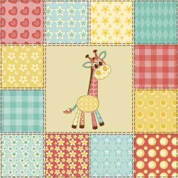 Giraffe Pattern - Quilt to Applique