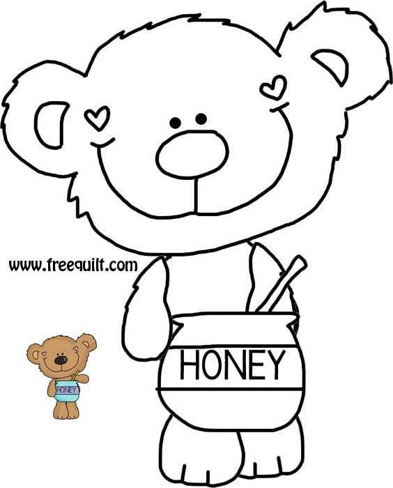 Honey Bear - Bear 3  Quilt Pattern