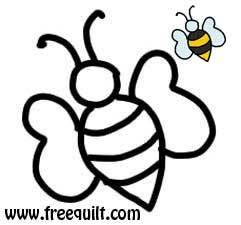Honey Bee Template | Bee Pattern, Free Printable for Applique