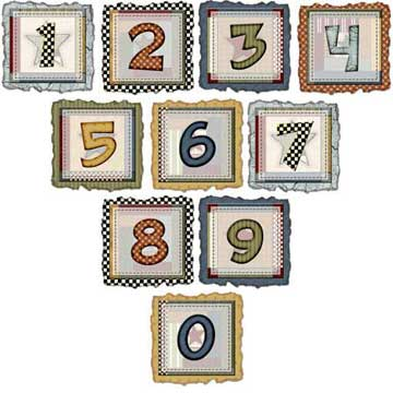 Numbers 0-9 Quilt Patterns