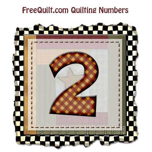Printable Number Two – for Sewing, Applique