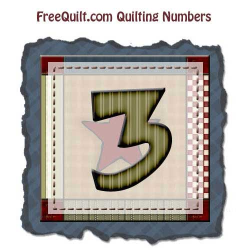 Number Art – Number Three for Stencils, Templates