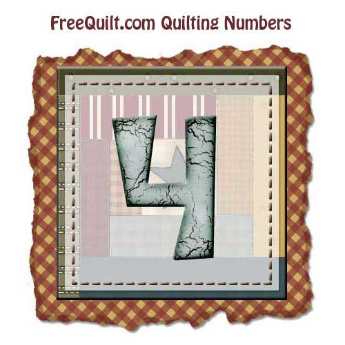 Template for Printable Number Four – Applique Free Printable