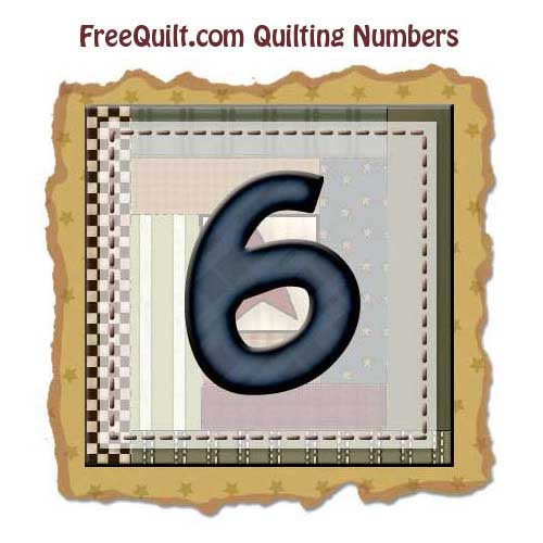 Applique Pattern for Number Six – Printable Template
