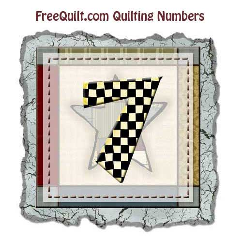 Quilting Templates for the Number 7 - Printing Pattern