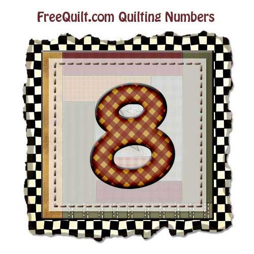 Quilting Templates For The Number 8 Printing Pattern