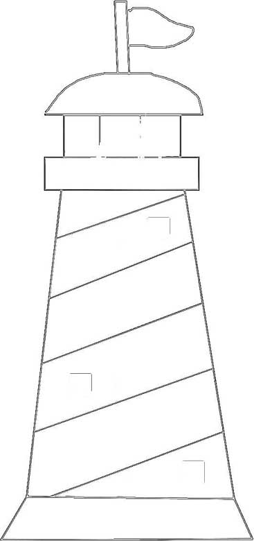 Lighthouse Line Drawing – Seashore Line Art