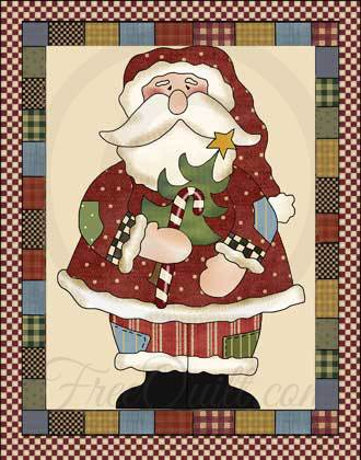 Santa Quilted Wall Hanging Pattern