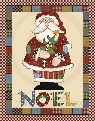 Noel Santa Quilted Wall Hanging Pattern