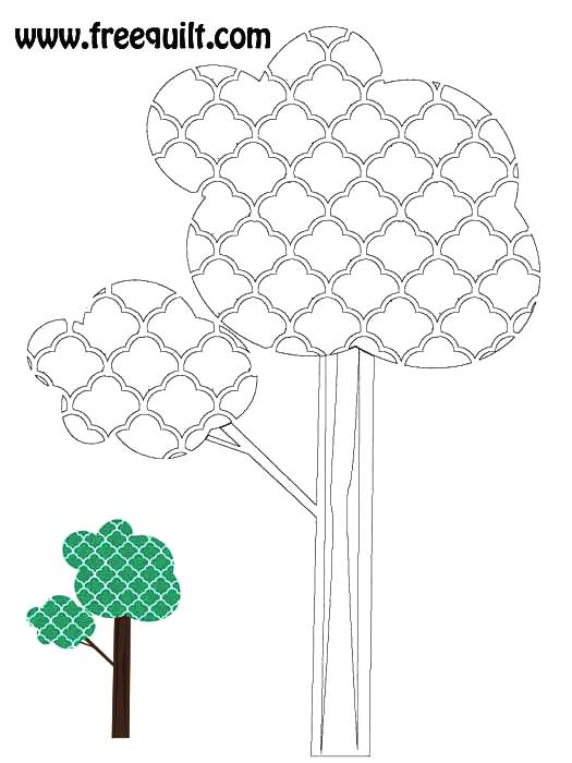 Tree Outline - Funky Tree Applique or Quilt Pattern