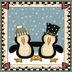 Penguin Pals Applique Quilt Block
