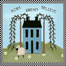 Wish Dream Believe Applique Quilt Block