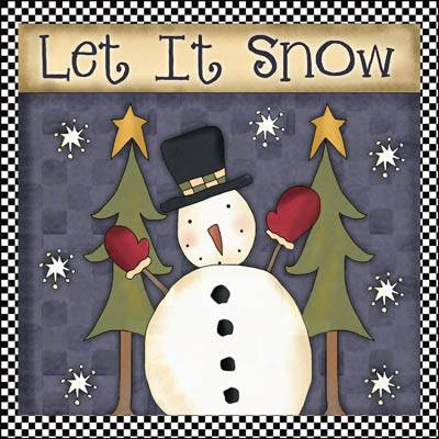 Let It Snow - Snowman Wall Hanging