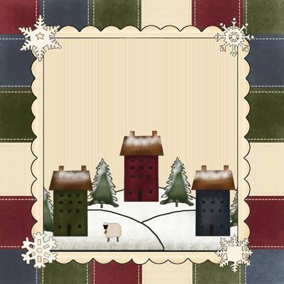 Salt Box Winter Quilt Block