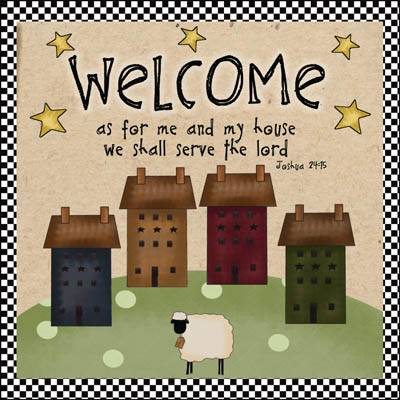 Primitive Welcome Quilted Wall Hanging