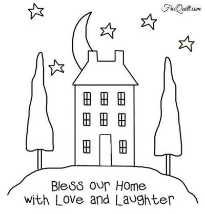 Bless Our Home Stitchery Pattern