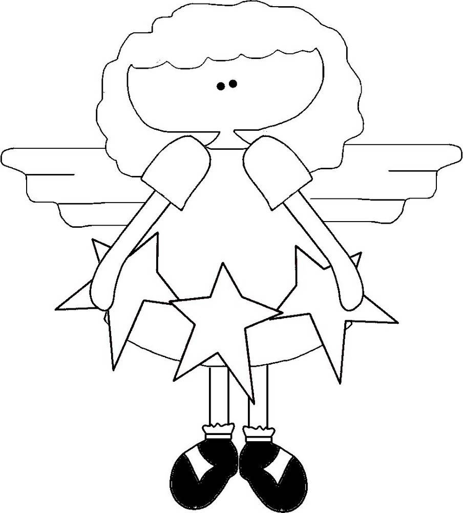 Angel Template 3 Star Angel Free Printable Template