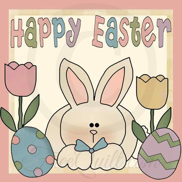 Happy Easter Applique Patterns
