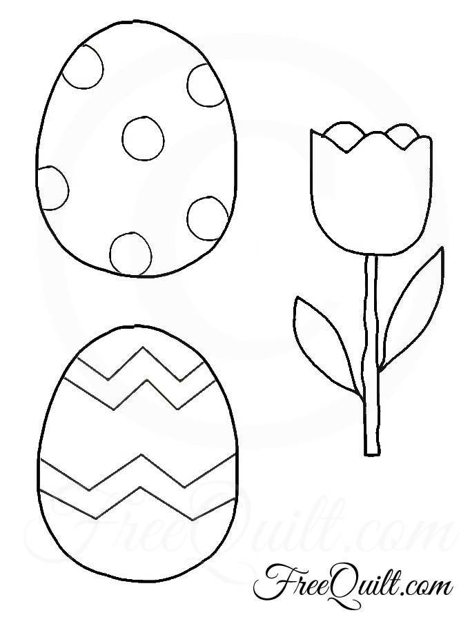 Easter Eggs And Tulip Patterns