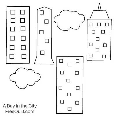 Applique Pattern - A Day in the City Wall Hanging