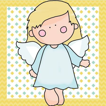 Angel Quilt Block - Pretty Designer Angel