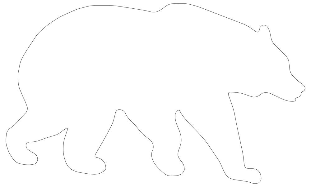Perfect Bear Outline
