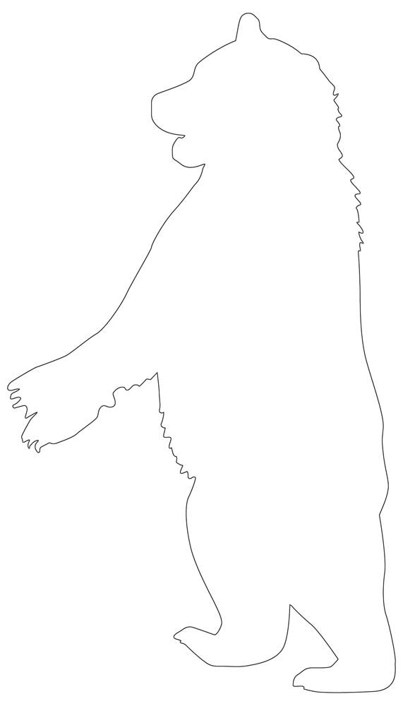Standing Bear Outline