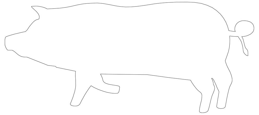 Pig Outline Coloring Pages Applique Stencil To Download Or Print