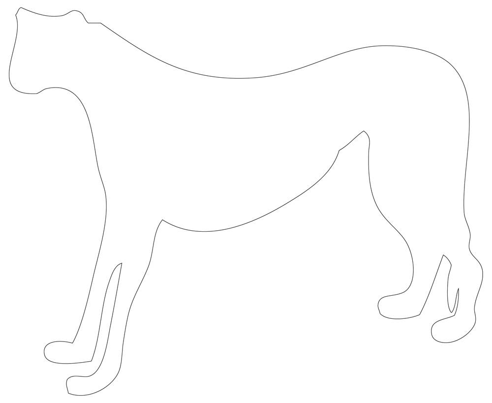 Cheetah Outline