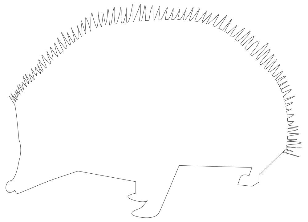 Hedgehog Outline